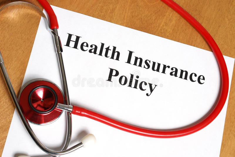 Health Insurance. An insurance policy is an asset for anyone taking care of their best interest, their health royalty free stock photos
