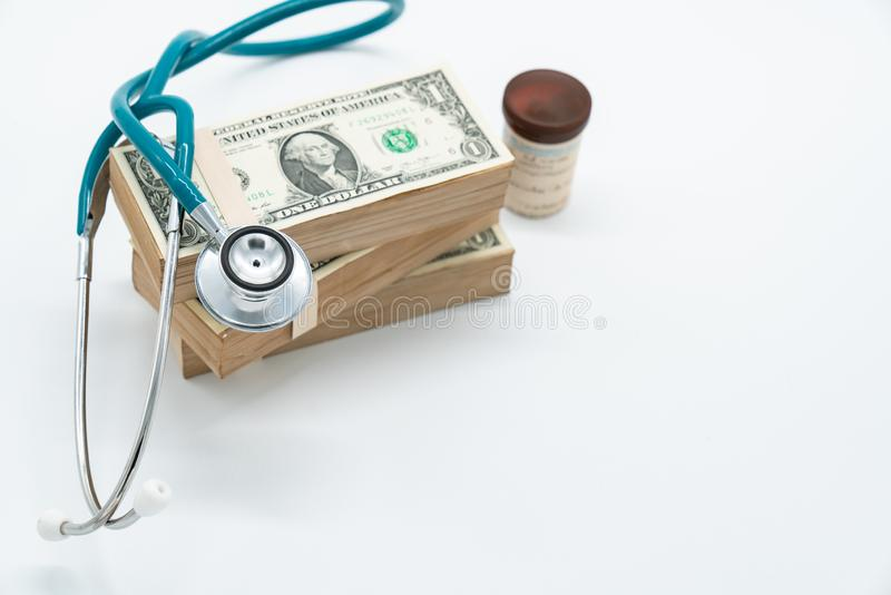 Health investigation of the Euro to cure the economic crises is. A world wide problem stock photography