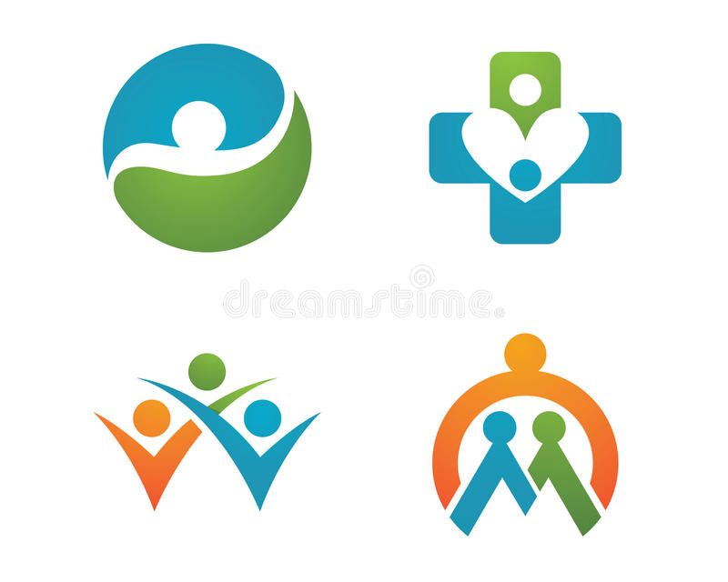 Health life and Fun logo. Health life Fun logo for other company royalty free illustration