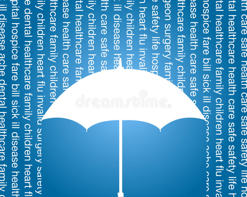 Health and life insurance commercial stock illustration