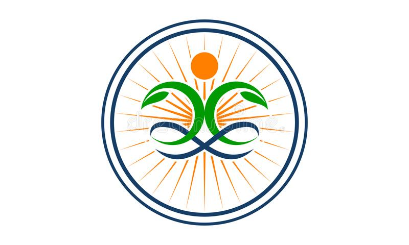 Health Life Spa and yoga. Logo Design Template Vector royalty free illustration