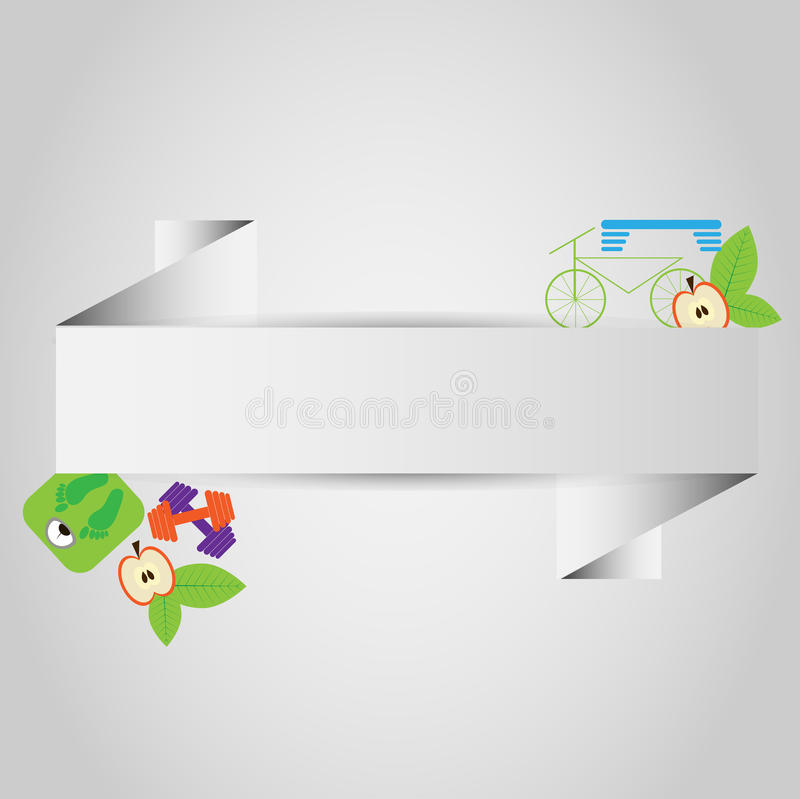 Health lifestyle paper frame stock illustration