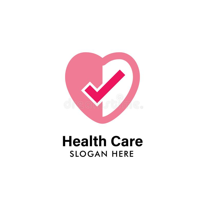 health logo design template. health heart logo illustration template. medical icon design stock illustration