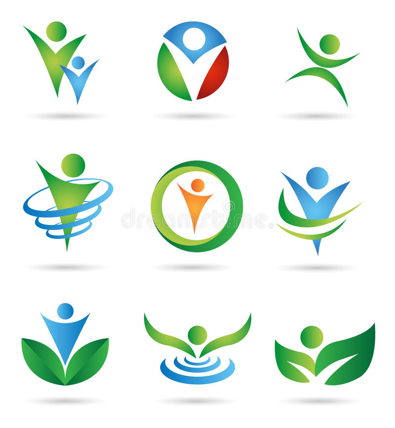 Health Logos. Several logo elements, which can be used for your company logo
