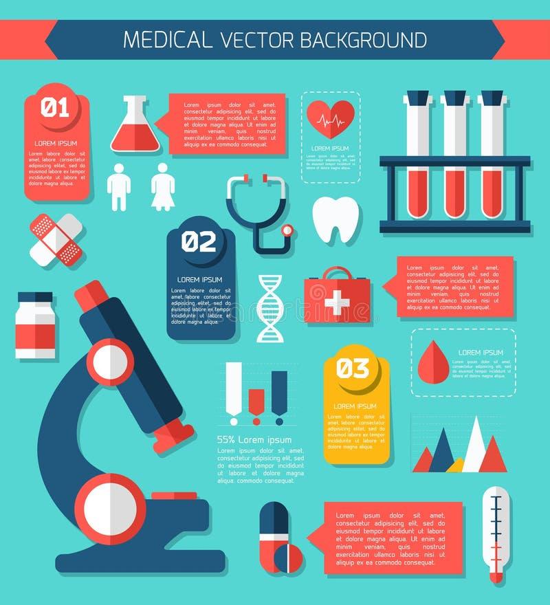 Health and Medical Care Illustration. stock illustration