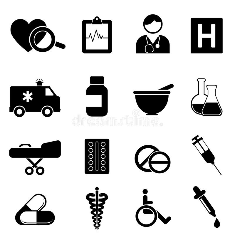 Health And Medical Icons Stock Photos