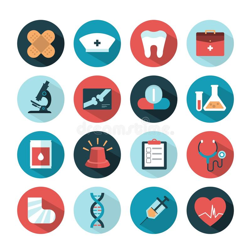 Health and medical icons vector illustration