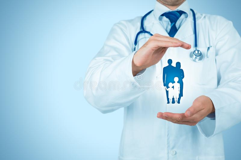 Health and medical insurance stock photography