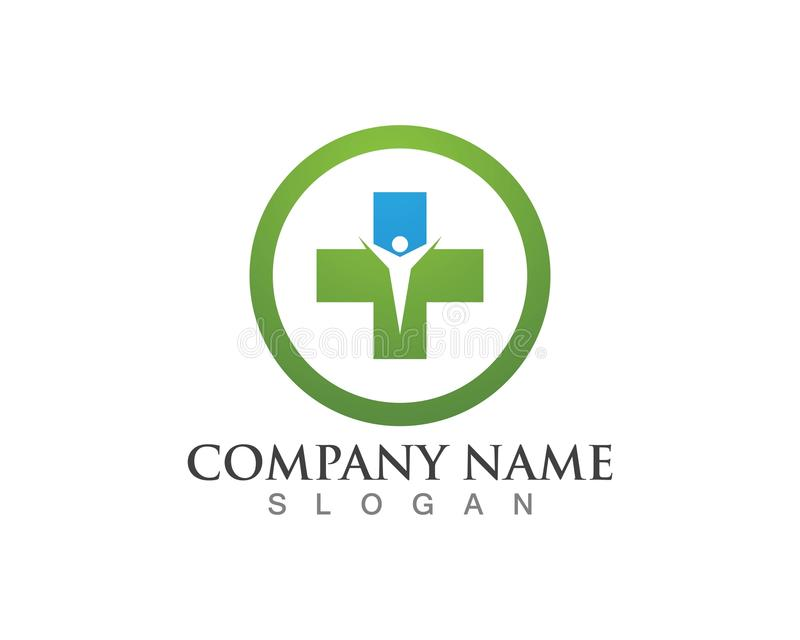 Health Medical Logo template vector illustration design.  royalty free illustration