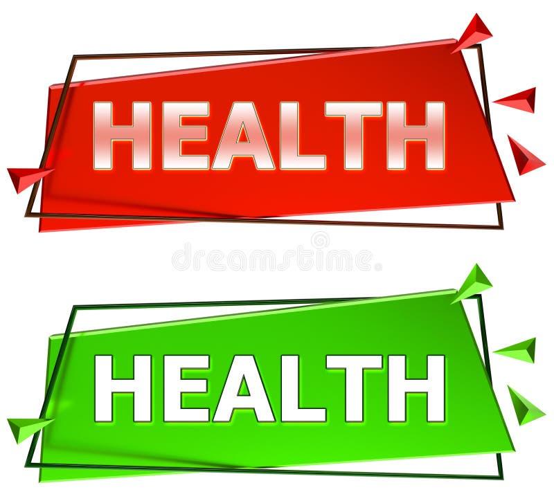 Health sign stock illustration