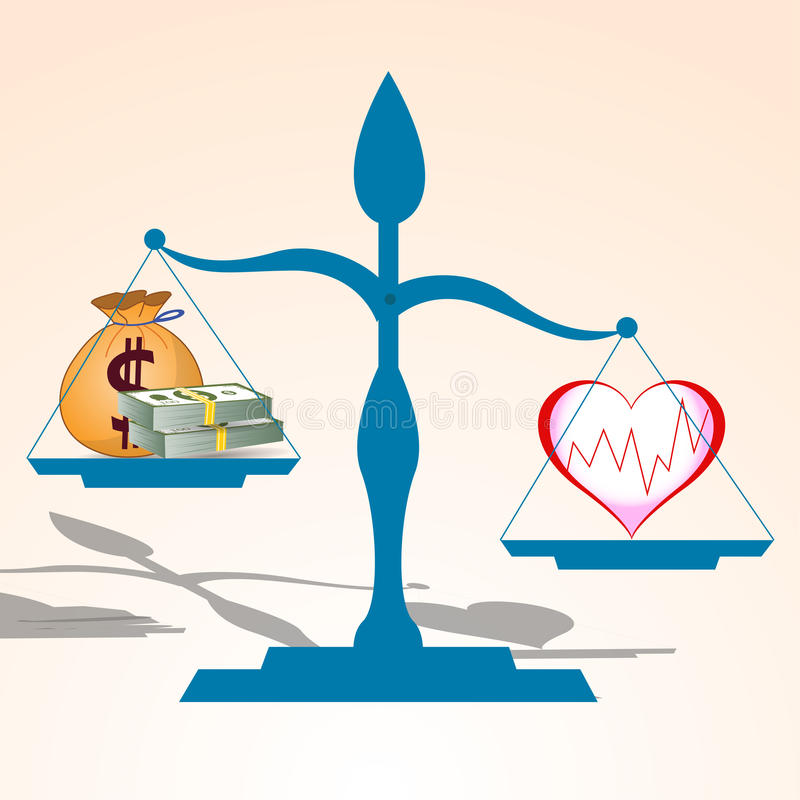 Health is more valuable than money vector. Illustration vector illustration