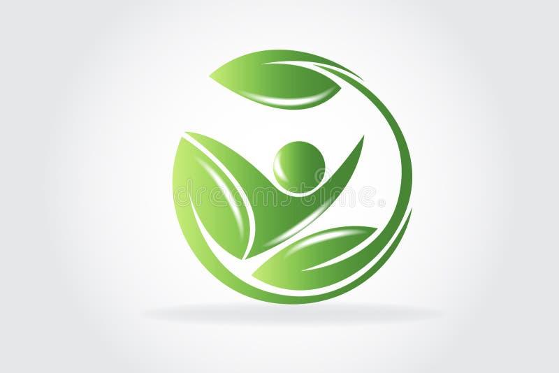 Health Nature Leafs Logo Vector royalty free illustration