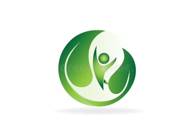Health green nature logo vector vector illustration