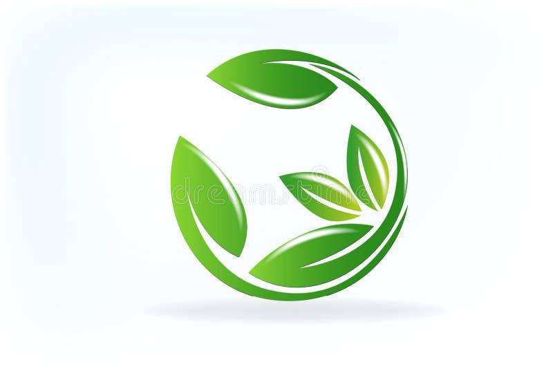 Health nature leafs logo vector vector illustration