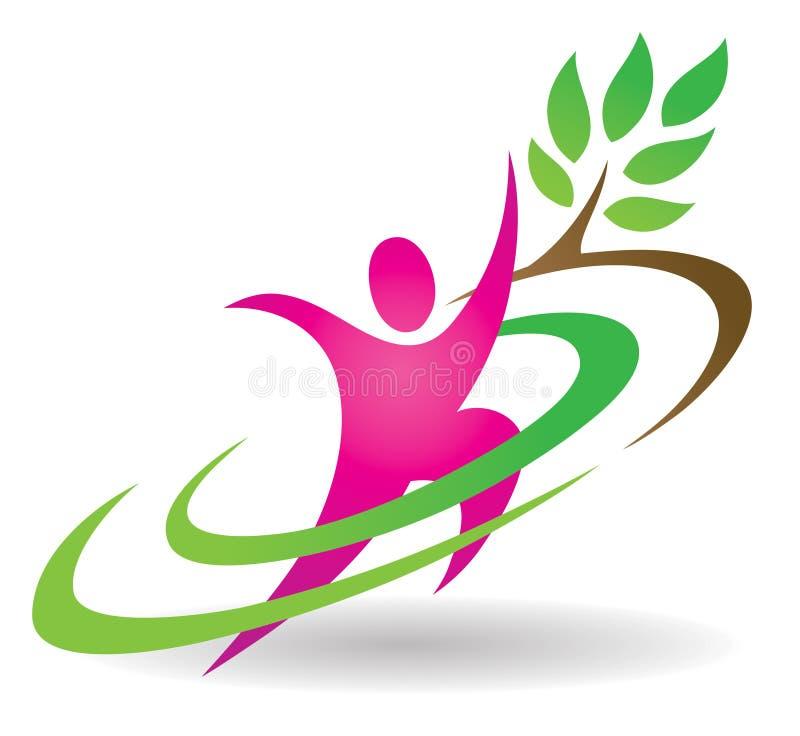 Health Nature Logo stock illustration
