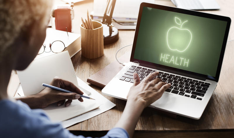 Health Nutrition Apple Healthy Eating Organic Concept royalty free stock photo