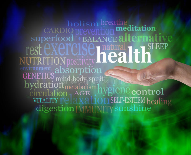 Health in the palm of your hand royalty free stock images