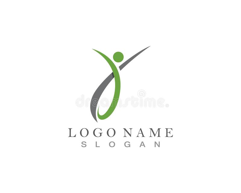 Health People Care Logo and symbol template.  royalty free illustration