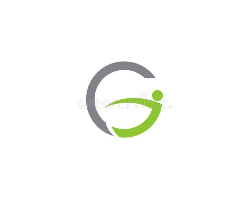 Health people logo G letter vector illustration