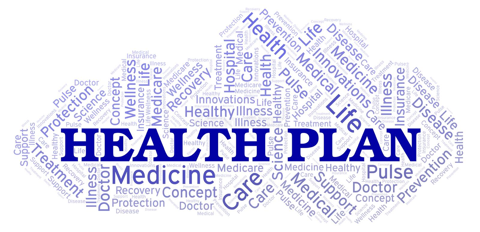 Health Plan word cloud vector illustration
