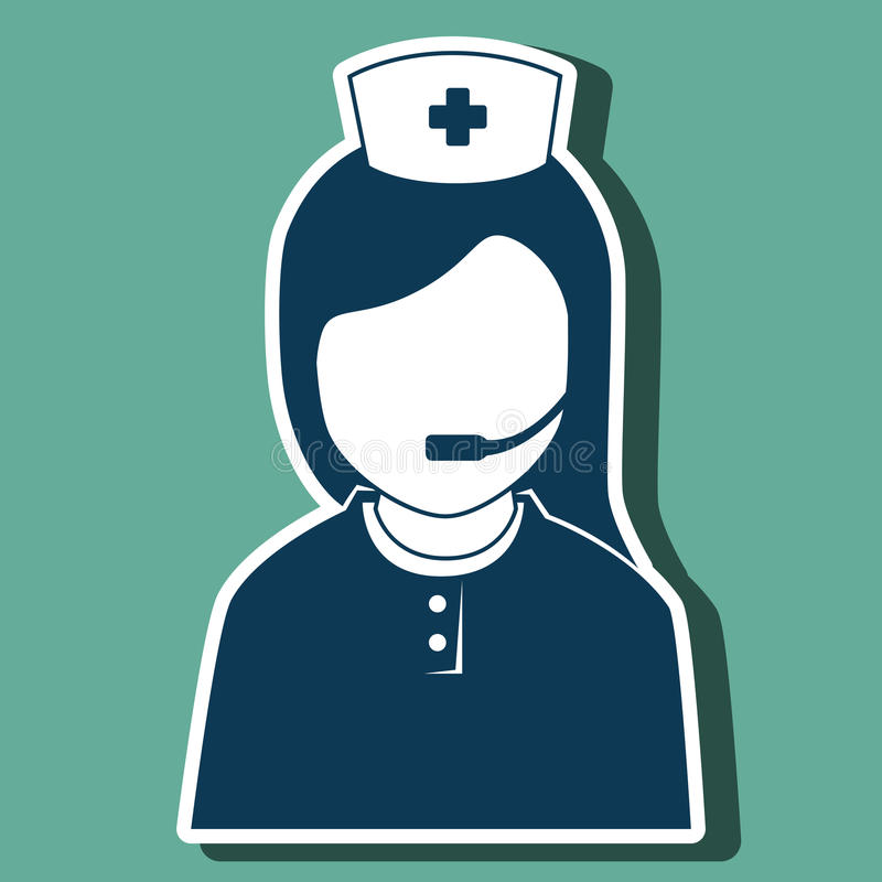 Health professional design. Illustration eps10 graphic royalty free illustration