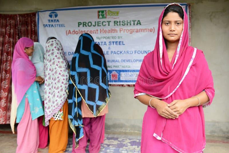 Health Programme. A volunteer posed regarding muslim health programme at Bihar-India stock photos