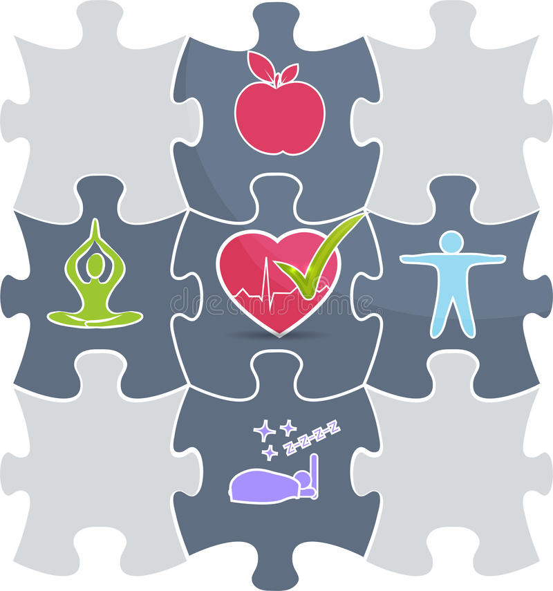 Health puzzle royalty free illustration