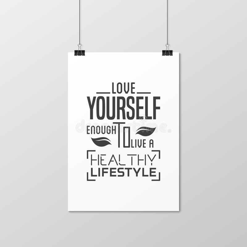 Download Health Quote. Typographical Poster. Stock Vector   Illustration Of  Poster, Concept: