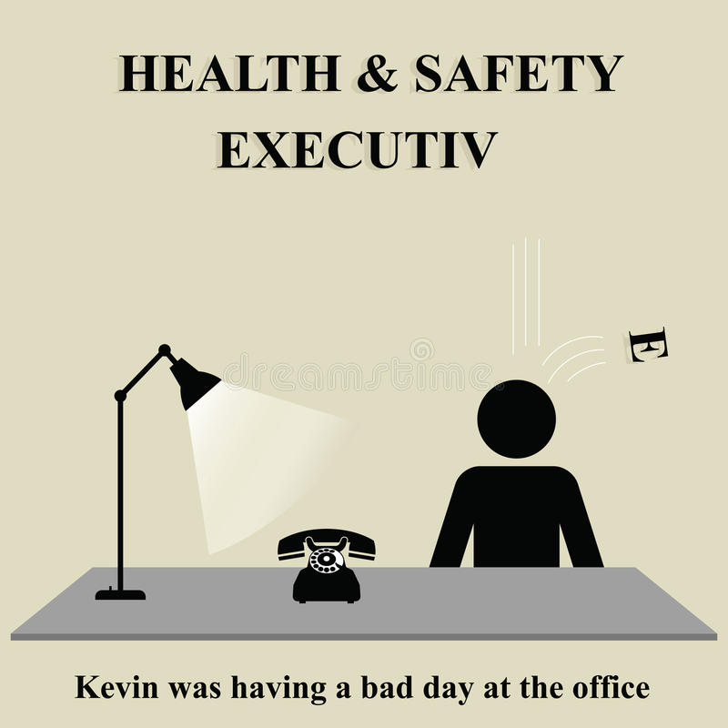 Health and Safety Executive illustration stock
