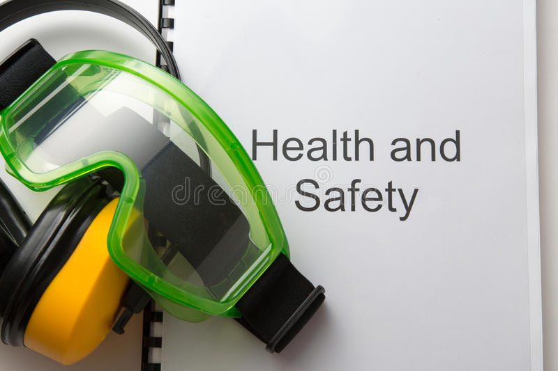 Health and safety register stock photo