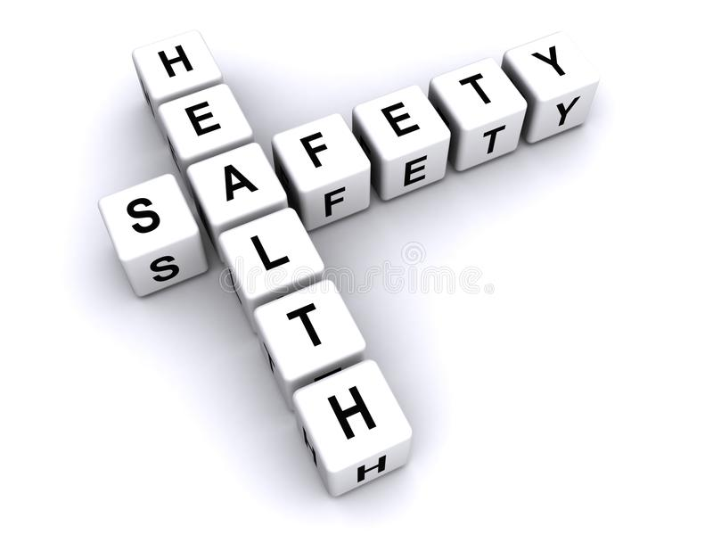Health and safety sign stock photo