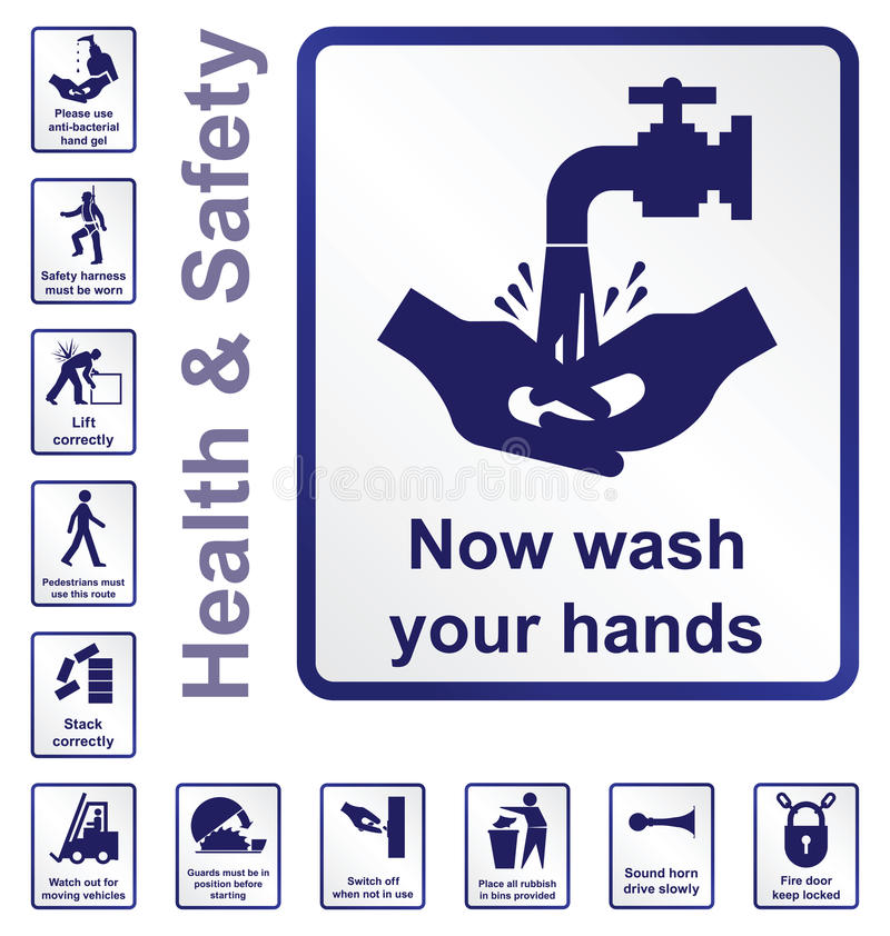 Download Health and safety Signs stock vector. Illustration of hands - 39606841