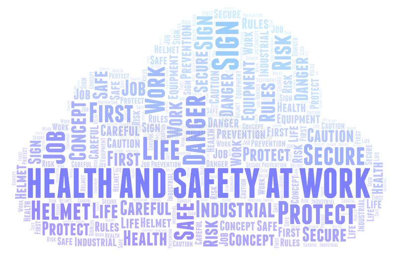 Health And Safety At Work word cloud. vector illustration