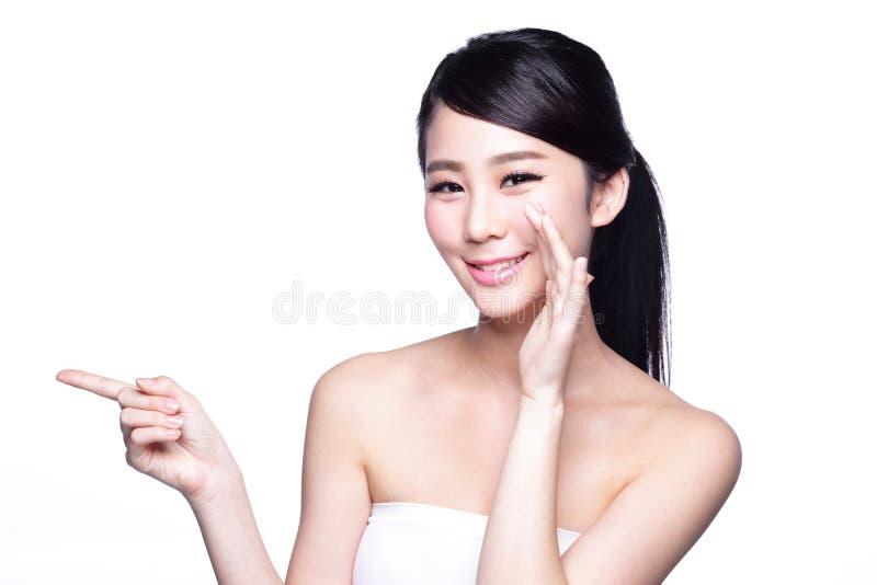 Health skin woman show something stock image