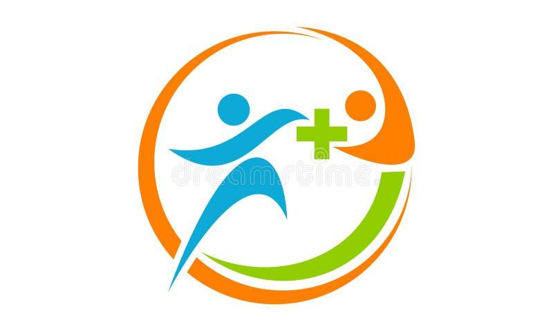 Health Solution Logo Design Template Stock Vector Illustration Of