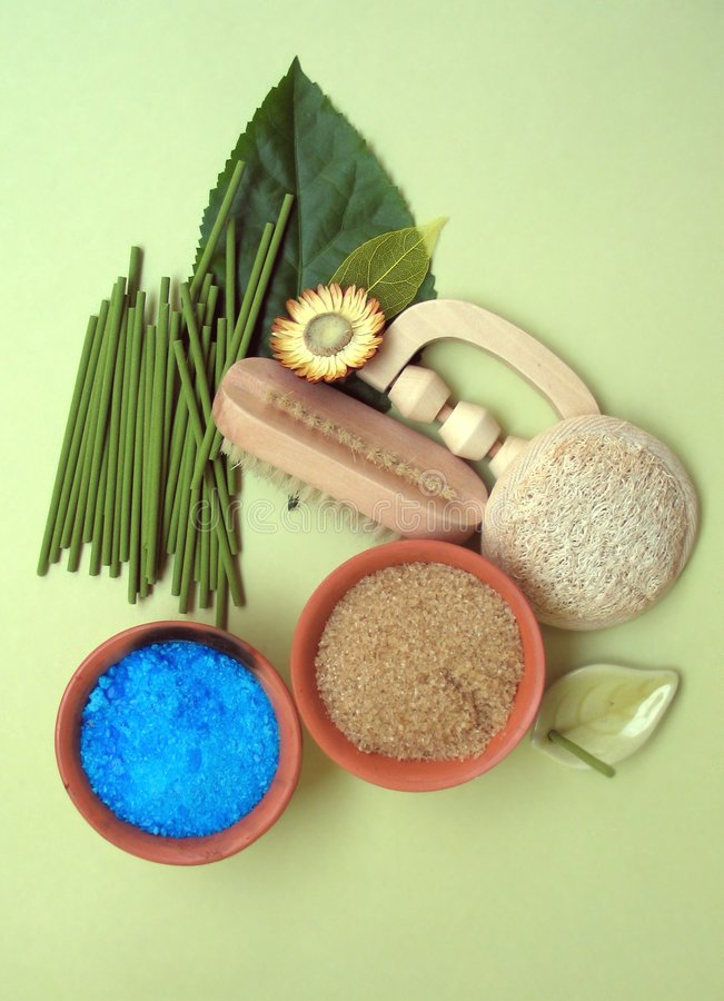 Health spa accessories royalty free stock photography