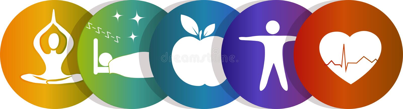 Health symbol rainbow stock illustration