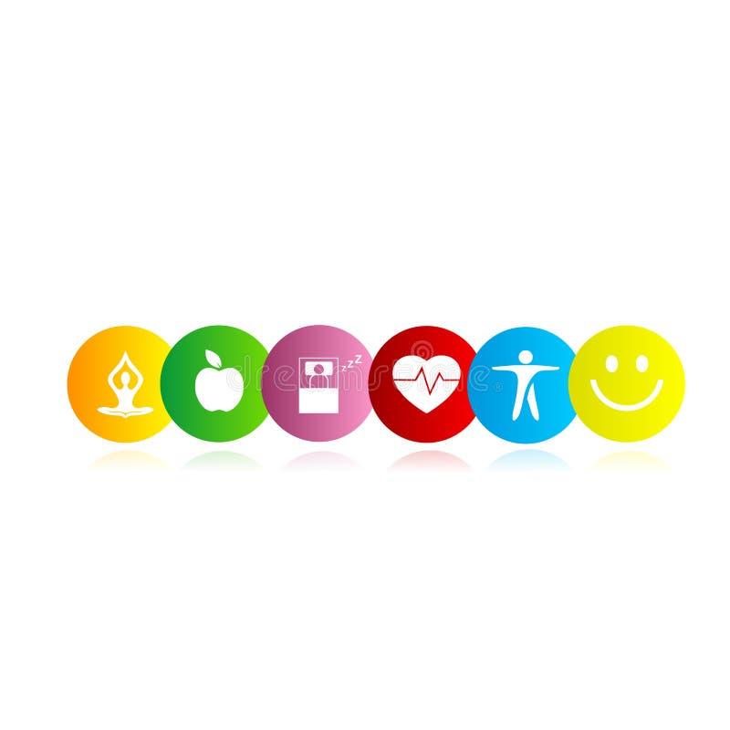 Health Symbol Rainbow Stock Illustration Illustration Of Adult