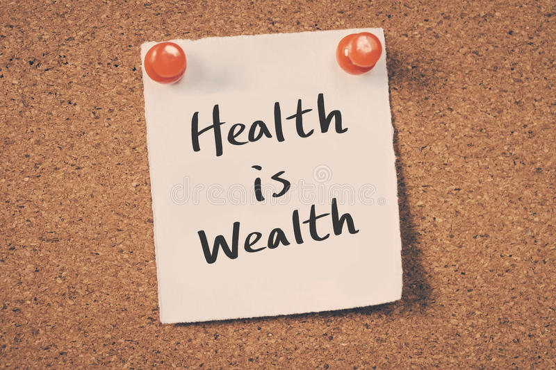 Health is Wealth stock image