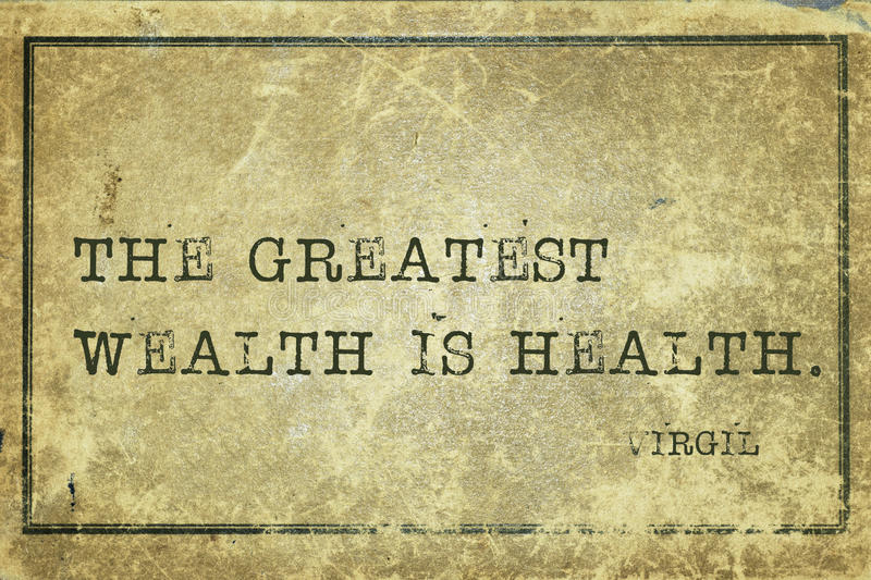 Health wealth Virgil stock image