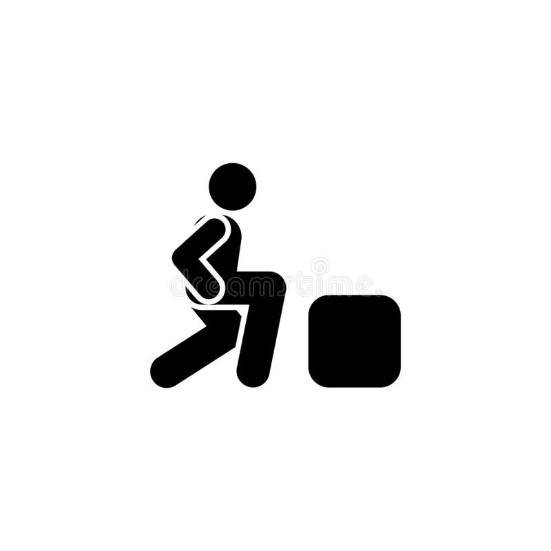 Health, weight, sports, man  icon. Element of gym pictogram. Premium quality graphic design icon. Signs and symbols collection. Icon on white background vector illustration