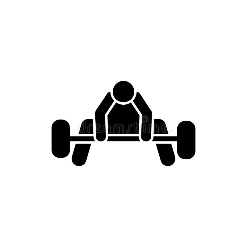 Health, weight, sports, man  icon. Element of gym pictogram. Premium quality graphic design icon. Signs and symbols collection. Icon on white background stock illustration