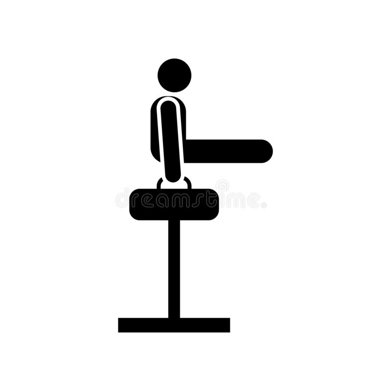 Health, weight, sports, man  icon. Element of gym pictogram. Premium quality graphic design icon. Signs and symbols collection. Icon on white background royalty free illustration