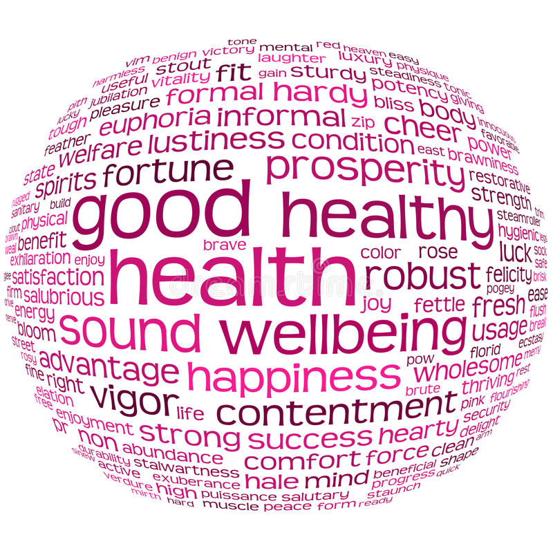 Download Health And Wellbeing Tag Cloud Stock Illustration - Image: 17342059