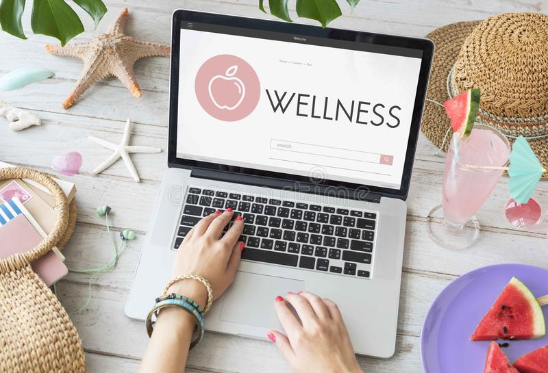 Health Wellness Diet Exercise Organic Concept royalty free stock images