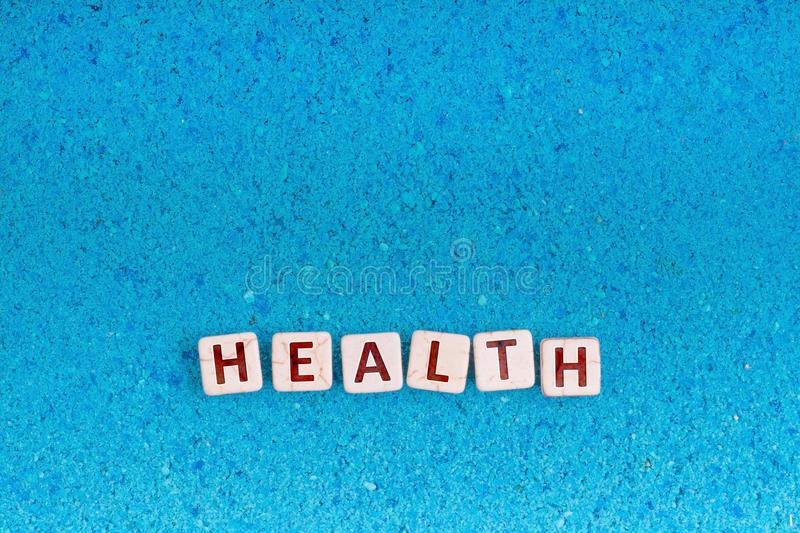 Health word on stone royalty free stock image