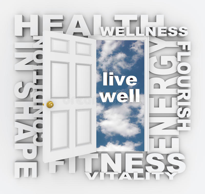Free Health Words Door Fitness Wellness Shape Living Healthy Royalty Free Stock Photo - 31918615