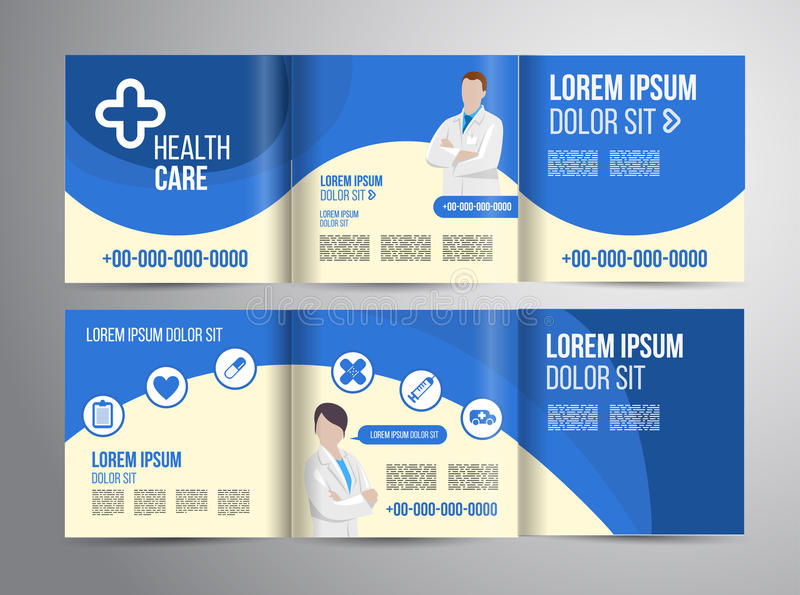 Healthcare brochure stock illustration