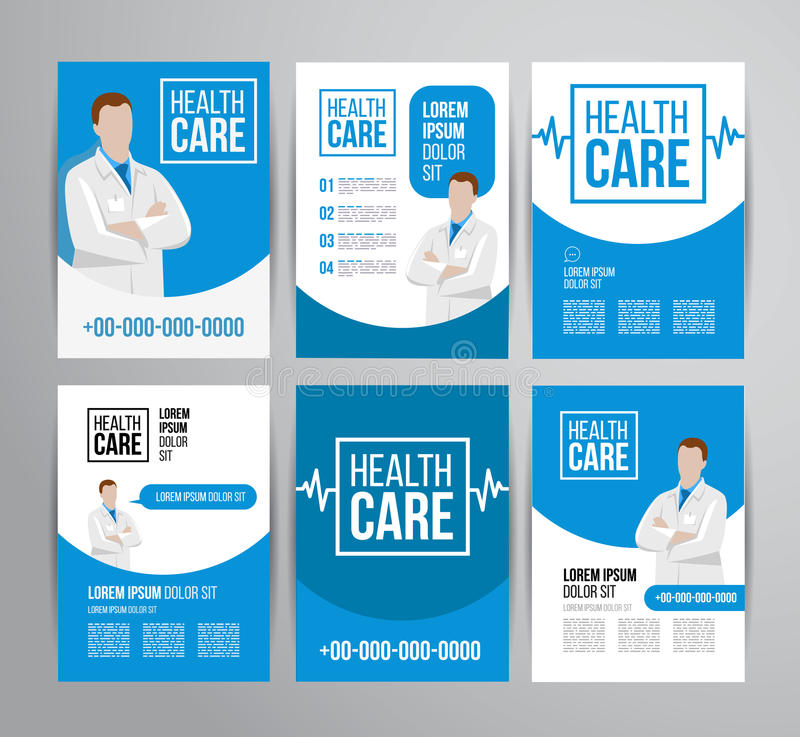Healthcare Brochure Stock Vector Illustration Of Doctor