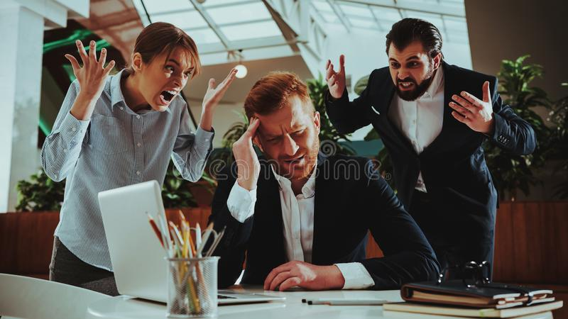 Worker in Suit Work Hard in Imbalance of Workload. Healthcare of Business People. Office. Office Manager. Worker in Suit. Time Management. Work with Laptop. Man stock images